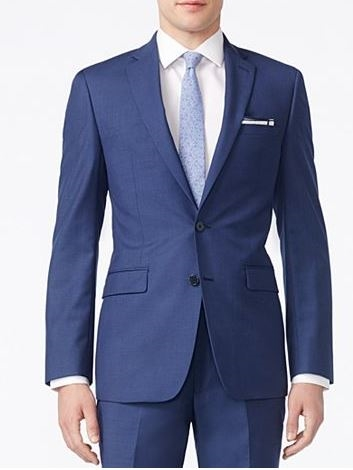 0f872999d3 Buy Calvin Klein Solid Blue -X-Fit Slim Suit at iswmenswear.com