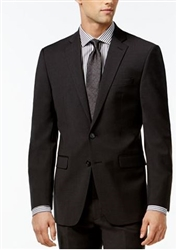 Calvin Klein Solid Charcoal -X-Fit Slim Suit