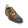 Carrucci Calfskin Double Monk strap
