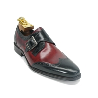 Carrucci Calfskin Single Monk Strap Shoe - KS099-710T