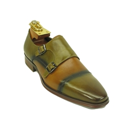 Carrucci Calfskin Double Monk Strap Shoe - KS261-03
