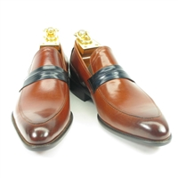 Carrucci Calfskin Two Toned Loafer Shoe - KS479-601N