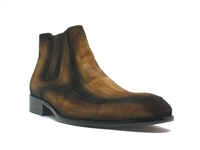 Carrucci Leather Suede Chelsea Boots