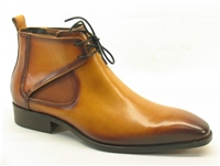 Carrucci Calfskin Lace-up Chukka Boots