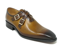 Carrucci Cross Strap Leather Loafer