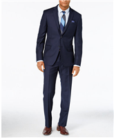 DKNY - Solid Navy Slim Fit Suit