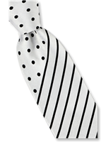 Steven Land Fancy White Tie