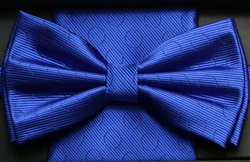 Steven Land Fancy Big Knot Blue Bowties