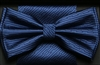 Steven Land Fancy Big Knot Navy Bowties