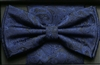 Steven Land Big Knot Fancy Navy Bowties