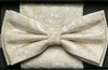 Steven Land Big Knot Fancy Off White Bowties