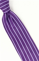 Steven Land Fancy Purple Stripe Tie