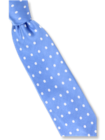 Steven Land Powder Blue Polka Dots Tie