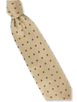 Steven Land Tan Polka Dots Tie