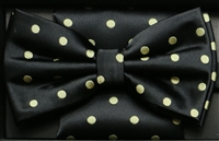 Steven Land Big Knot Fancy Black Bowties