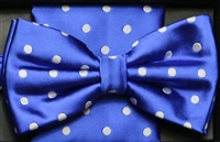 Steven Land Big Knot Fancy Blue Bowties