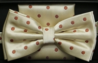 Steven Land Big Knot Fancy Cream Bowties