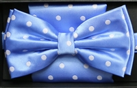 Steven Land Big Knot Fancy Light Blue Bowties