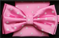 Steven Land Big Knot Fancy Pink Bowties