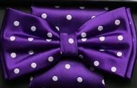 Steven Land Big Knot Fancy Purple Bowties