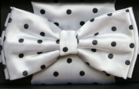 Steven Land Big Knot Fancy White Bowties