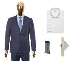 Head-To-Toe Elegant Package | Sharkskin Suit