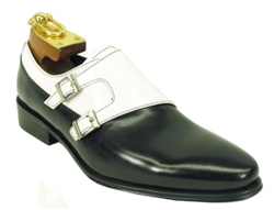 Carrucci Double Monk Straps