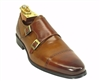 Carrucci Two Tone Burnished Monk Strap