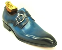 Carrucci Burnished Monk Strap