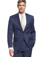 Ralph Lauren 100% Natural Wool Solid Navy Stripe Suit Modern Fit