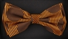 STEVEN LAND | HD BOW TIE | PRE- TIED | BOLD CIRCLE/STRIPED BOW TIE | BROWN