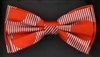 STEVEN LAND | HD BOW TIE | PRE- TIED | BOLD CIRCLE/STRIPED BOW TIE | RED