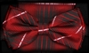 STEVEN LAND | HD BOW TIE | PRE- TIED | PLAID BOW TIES | RED