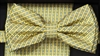 STEVEN LAND | HD BOW TIE | PRE- TIED | SUBTLE CHECKERED BOW TIE | YELLOW