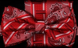 STEVEN LAND | HD BOW TIE | PRE- TIED | GEOMETRIC PAISLEY BOW TIE | RED