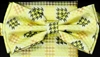 STEVEN LAND | HD BOW TIE | PRE- TIED | HOUNDSTOOTH BOW TIE | GOLD