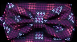 STEVEN LAND | HD BOW TIE | PRE- TIED | HOUNDSTOOTH BOW TIE | PURPLE