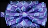 STEVEN LAND | HD BOW TIE | PRE- TIED | GEOMETRIC CHECK BOW TIE | LILAC
