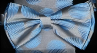 STEVEN LAND | HD BOW TIE | PRE- TIED | LARGE TEXTURED POLKA DOT BOW TIE | BLUE