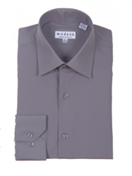 Modena - Charcoal Contemporary Fit Dress Shirt