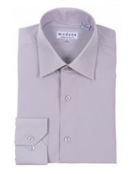 Modena - Gray Contemporary Fit Dress Shirt