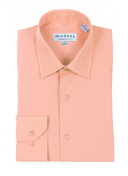 Modena - Melon Contemporary Fit Dress Shirt