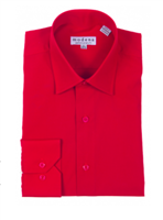 Modena - Red Contemporary Fit Dress Shirt