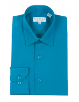 Modena - Teal Contemporary Fit Dress Shirt