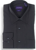 Modena - Black Slim Fit Dress Shirt