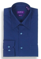 Modena - Navy Slim Fit Dress Shirt