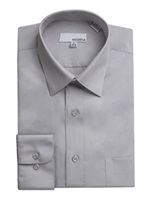 Modena - Grey Slim Fit Dress Shirt