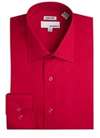 Modena - Red Slim Fit Dress Shirt