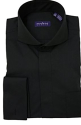 Modena Black French Cuff Cutaway Shirt