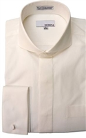 Modena- Cream French Cuff Cutaway Shirt